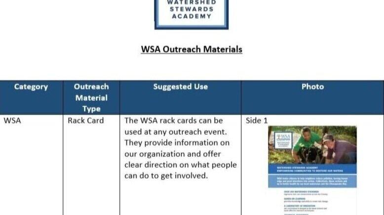 WSA Outreach Materials