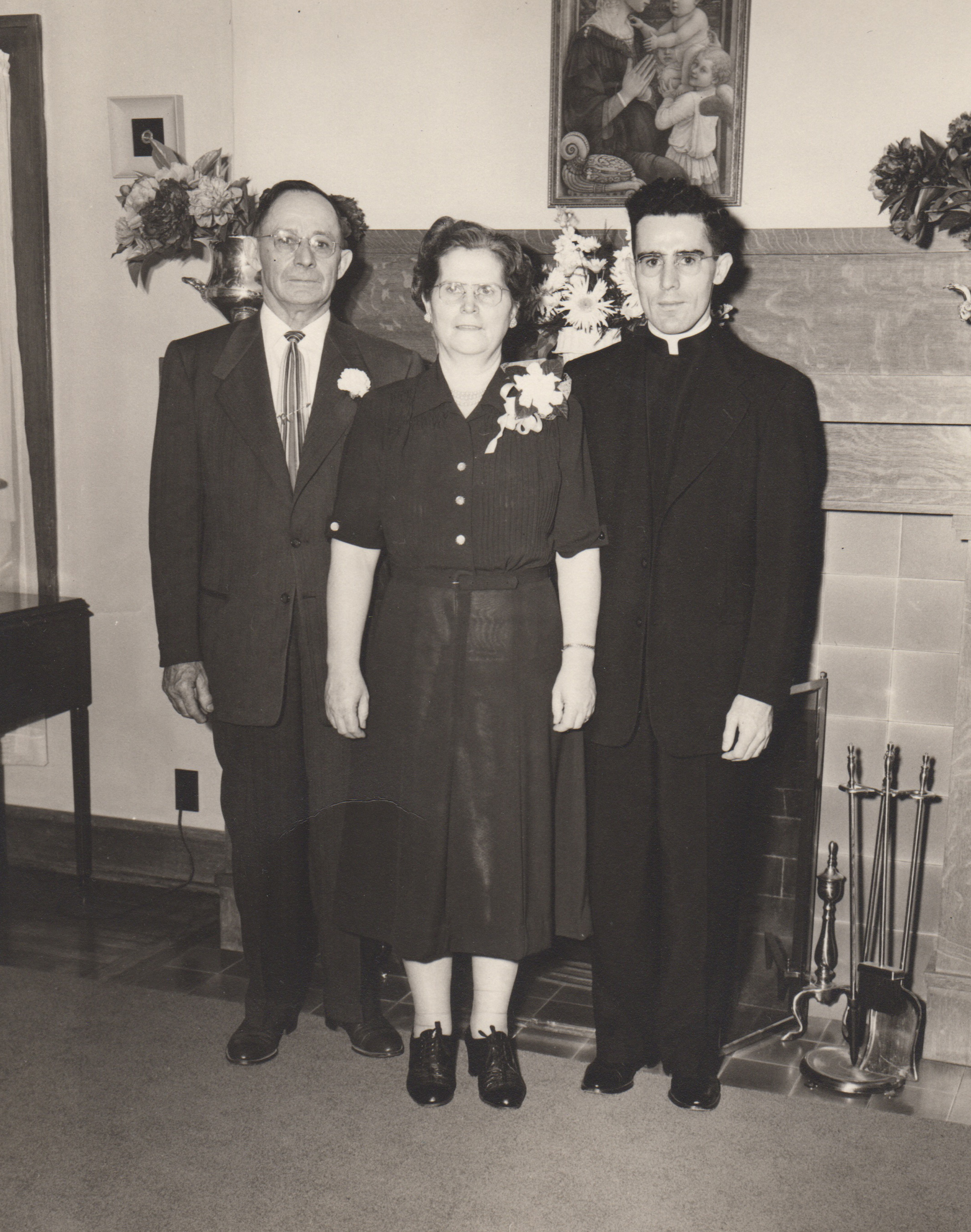 Fr. Bertrand and his parents on the occasion of his Ordination to the Priesthood.