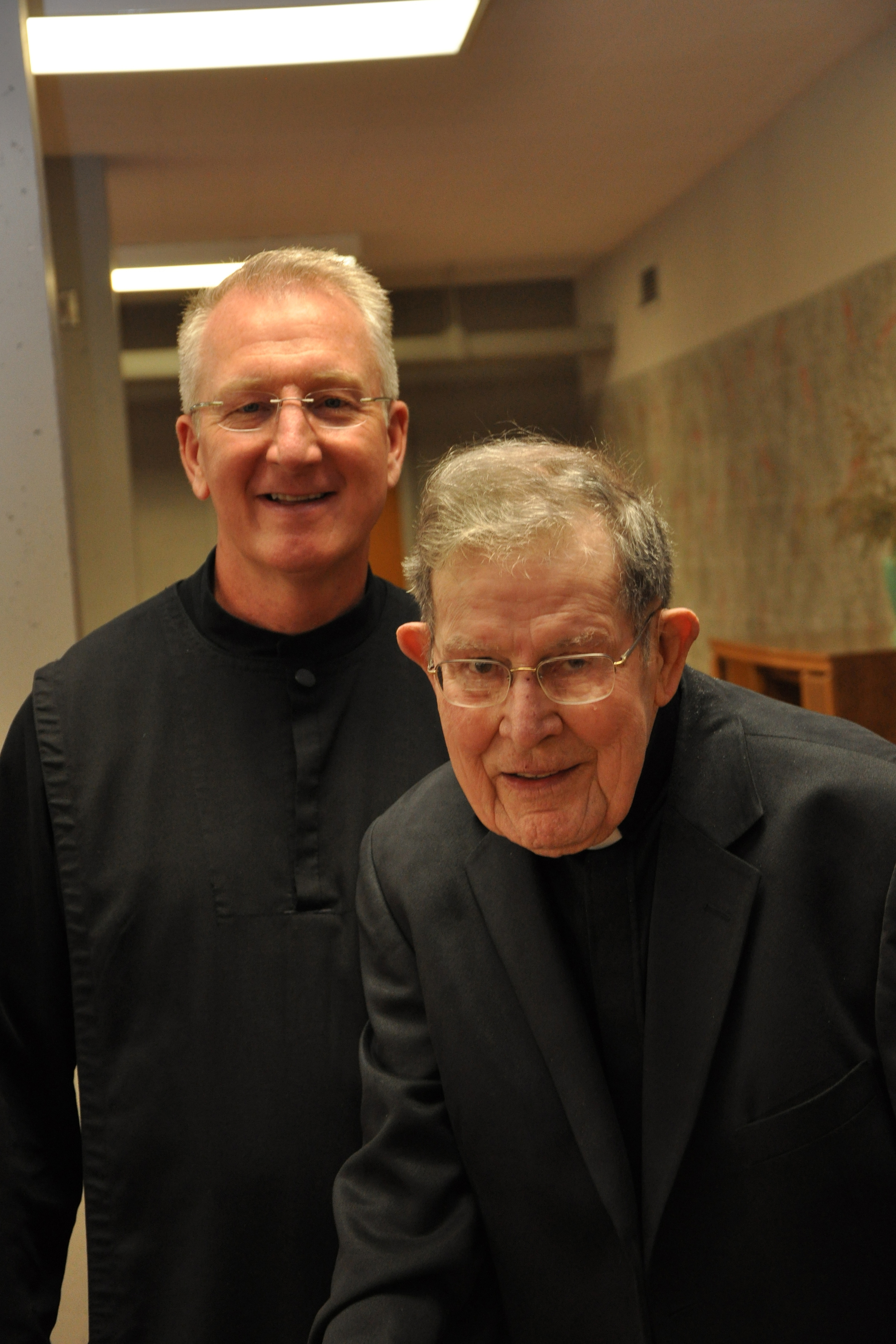 Br. Luke Turner and Fr. Bertrand.