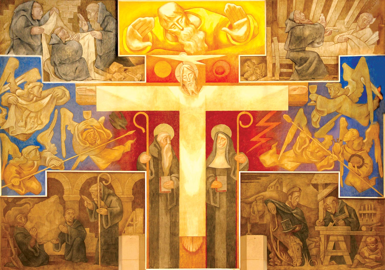 The Abbey Fresco showing Christ glorified.
