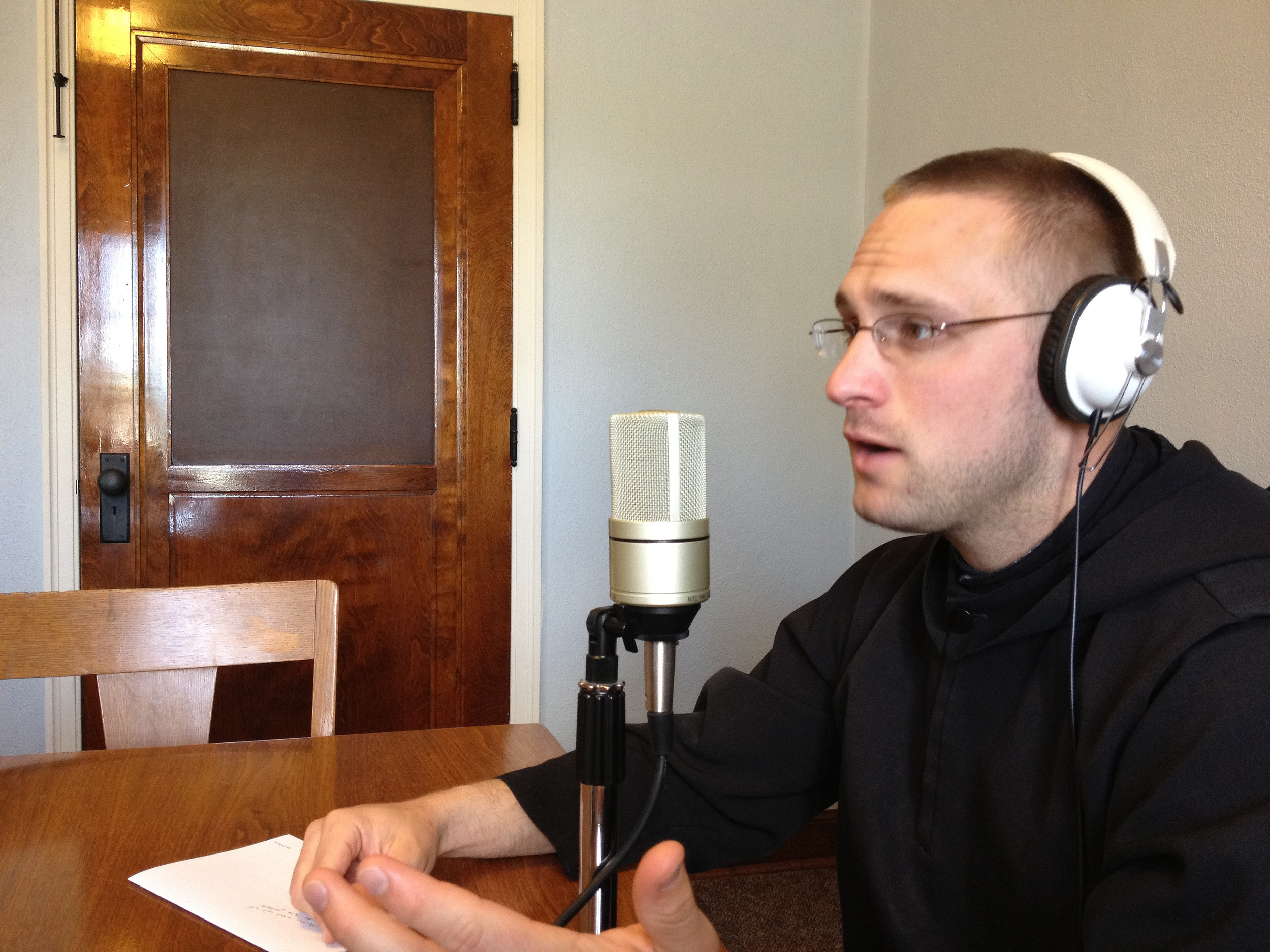 This is not Br. Leven on Dallas radio, but we bet he had some wise things to say on that day too.