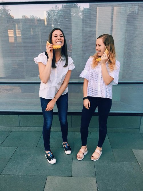"gonanas  all started in the UofM freshman dorms.  Annie Slabotsky and Morgan Lerner  were neighbors and quickly bonded over their passion for food, health, and baking. one day, given their mutual love and familial tie to banana bread, they decided to ""healthify"" the classic treat, messing around in Annie's kitchen in Birmingham, Mi all day until they nailed the recipe. Their idea was to make something just as delicious as the bread they knew and loved, but much more nutritious, so that other people on campus and beyond campus could have access to healthy on-the-go treats that were just as tasty and satisfying."