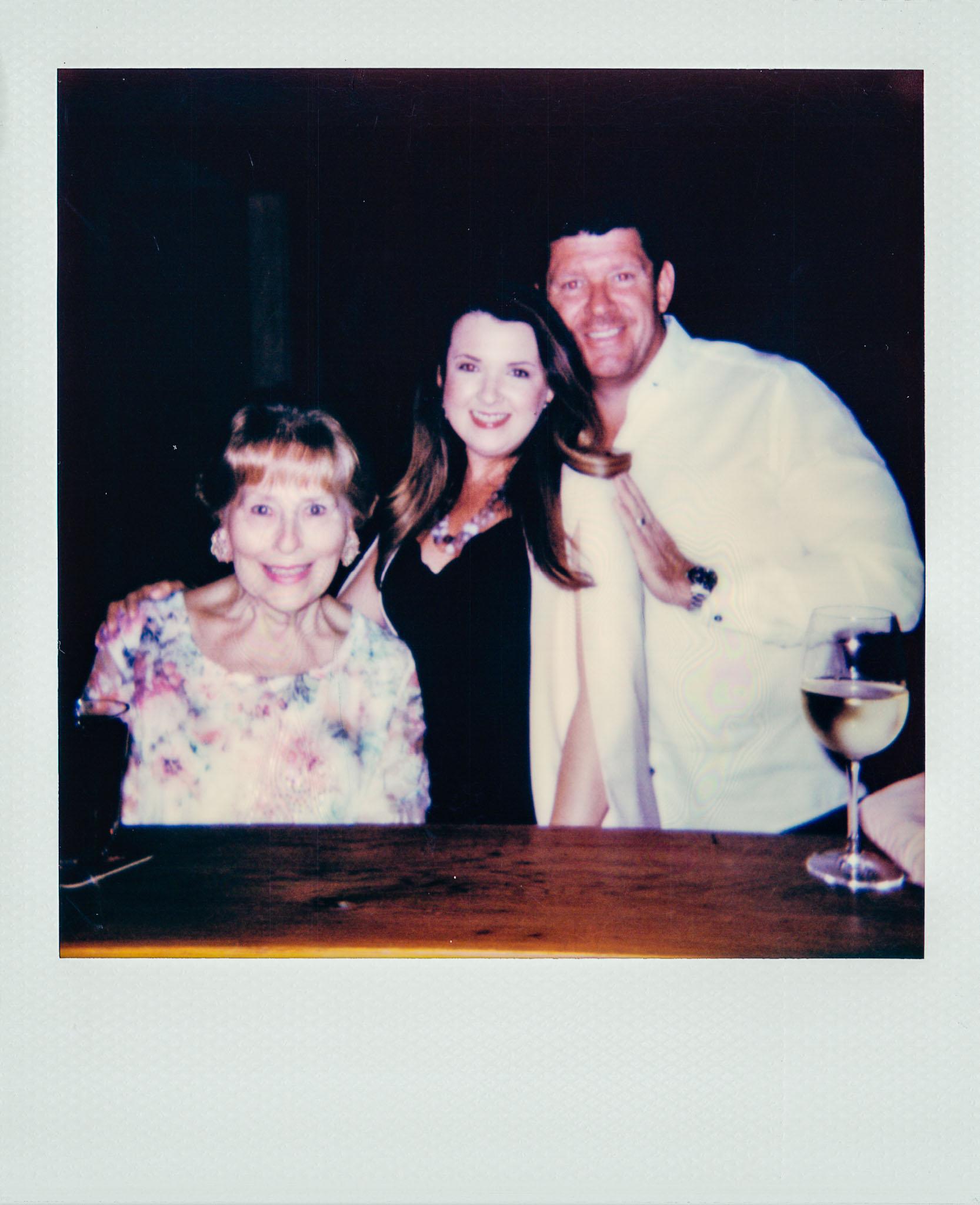 Linda Updike and Lauren Ferriola with a friend at Wallys Mills Avenue Liquors
