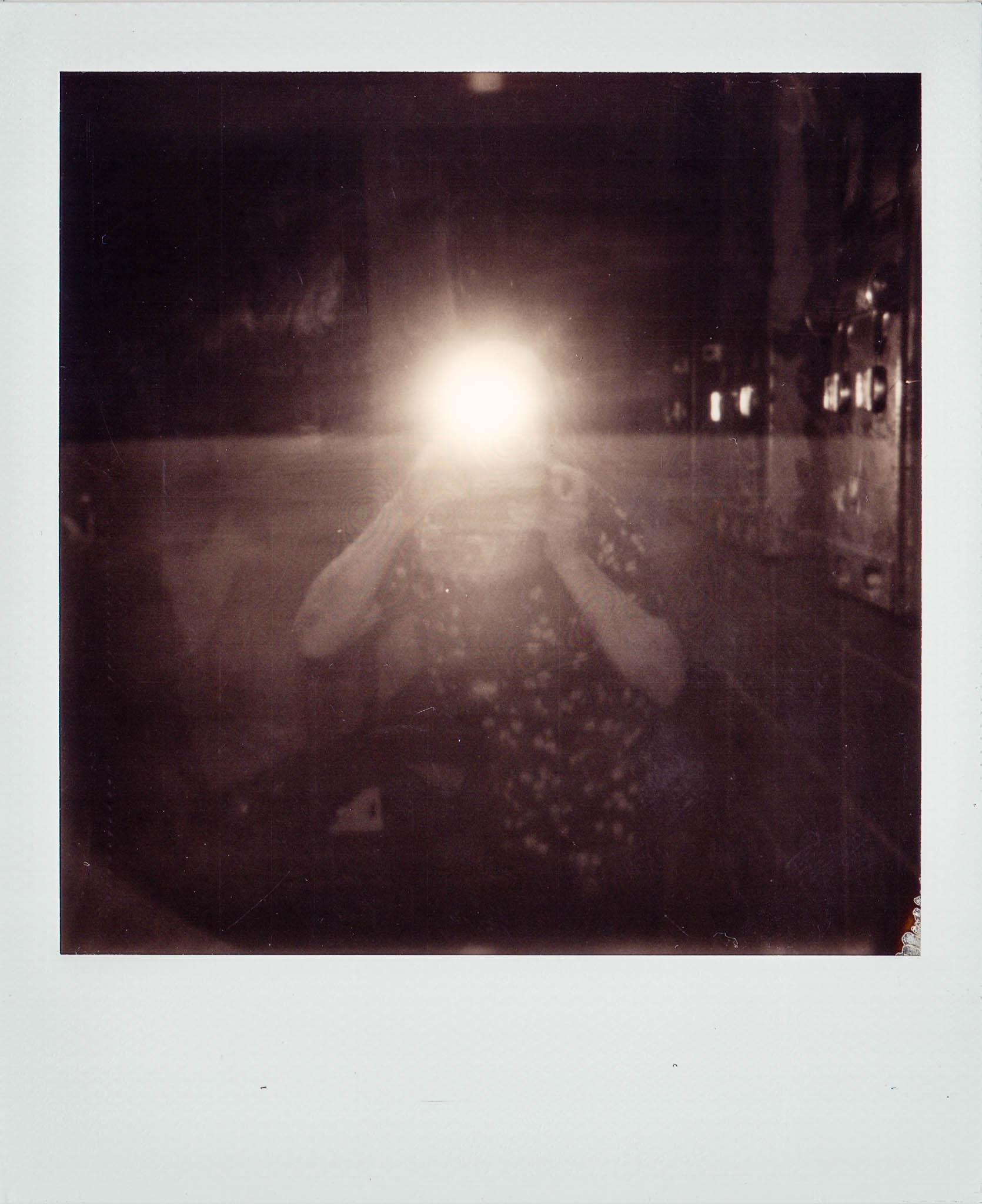 Polaroid selfie of photographer David Lawrence