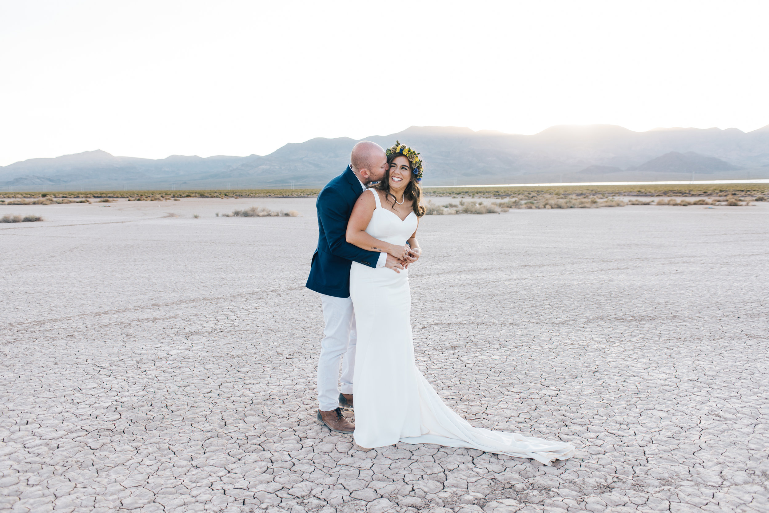 ted baker groom suit, groom, dry lake bed elopement, elopement, flora pop, las vegas wedding, las vegas elopement, pop up wedding, desert wedding, essence of australia wedding dress, wedding dress, bride, bride style, bridal, aussie wedding, las vegas photographer, desert life, summer wedding, blush, blush bridal party, girls, flower crown,