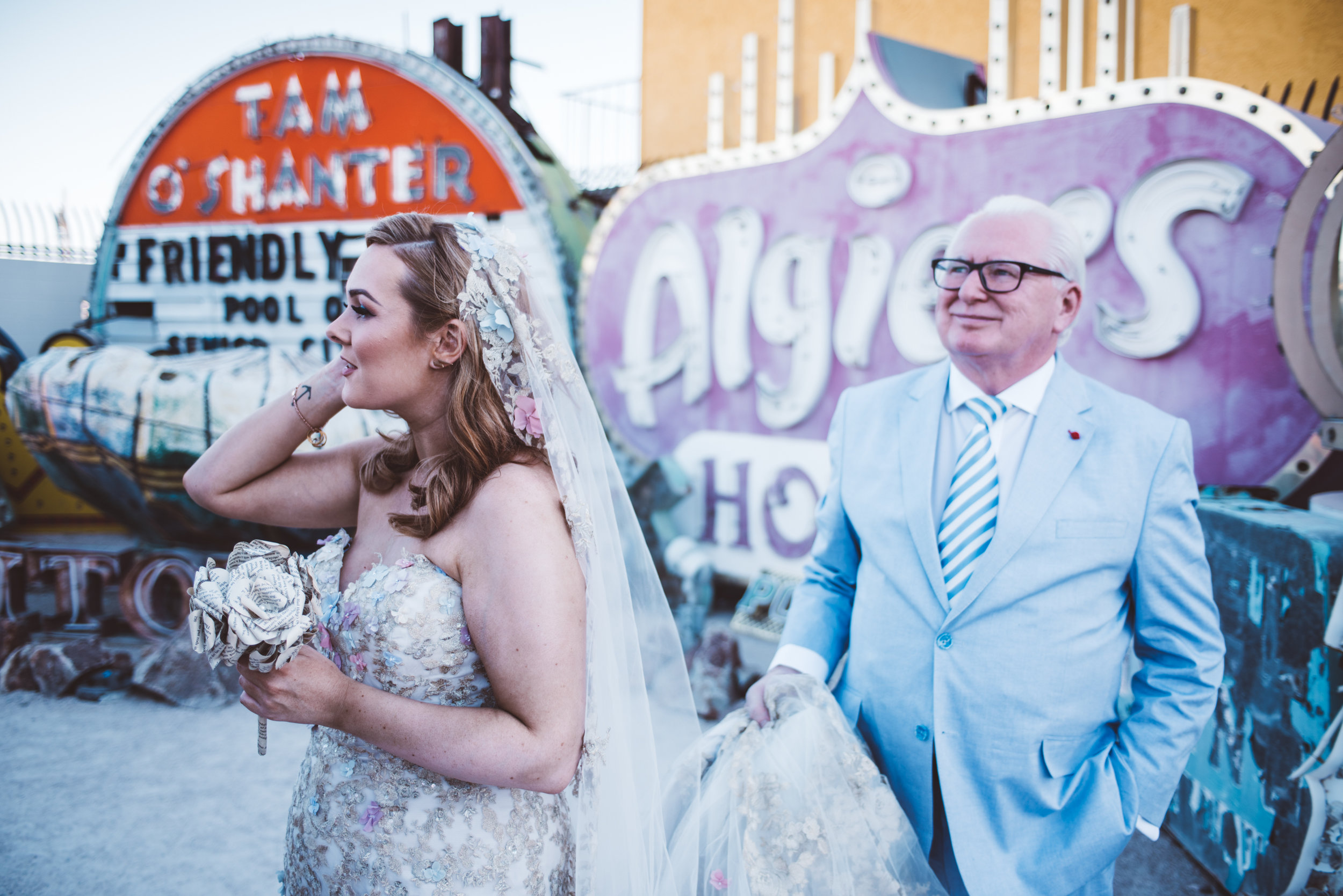 Neon Museum Elopement Elvis Elopement Las Vegas Photography by Ashley Marie-19.jpg