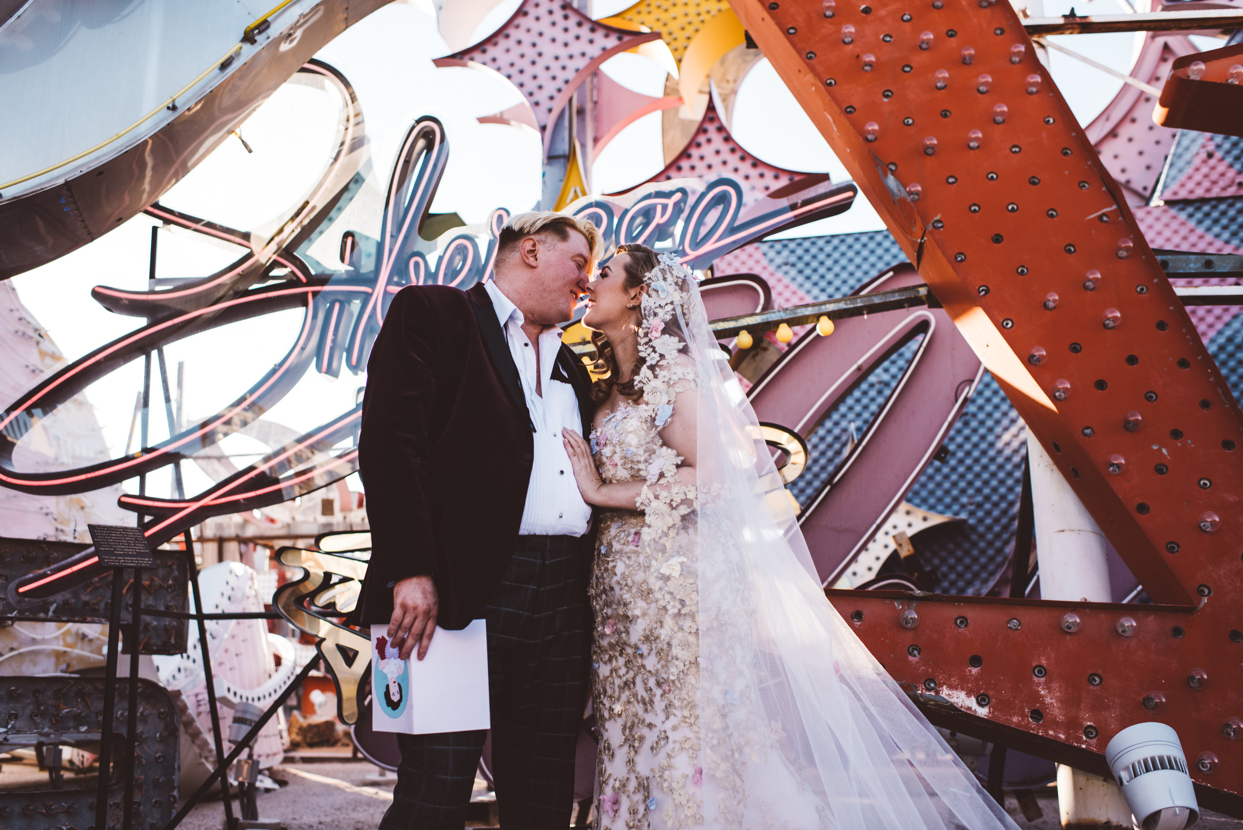 Neon Museum Elopement Elvis Elopement Las Vegas Photography by Ashley Marie-97.jpg