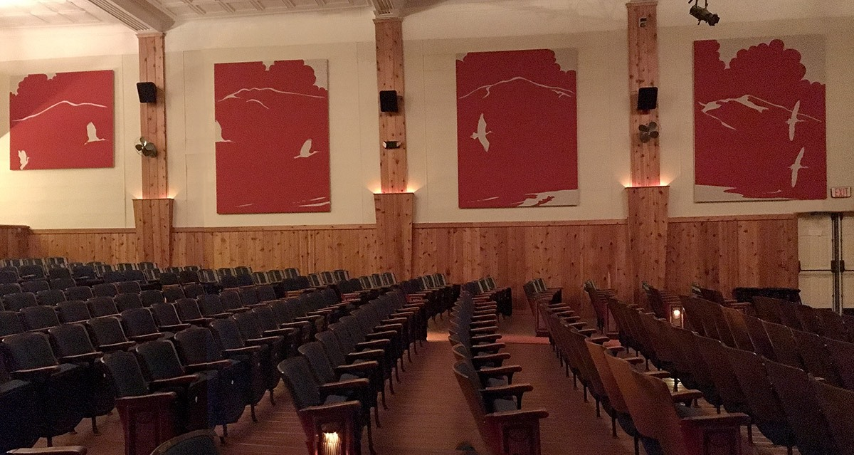 Acoustic panel design for The Colonial Theatre, Bethlehem, NH