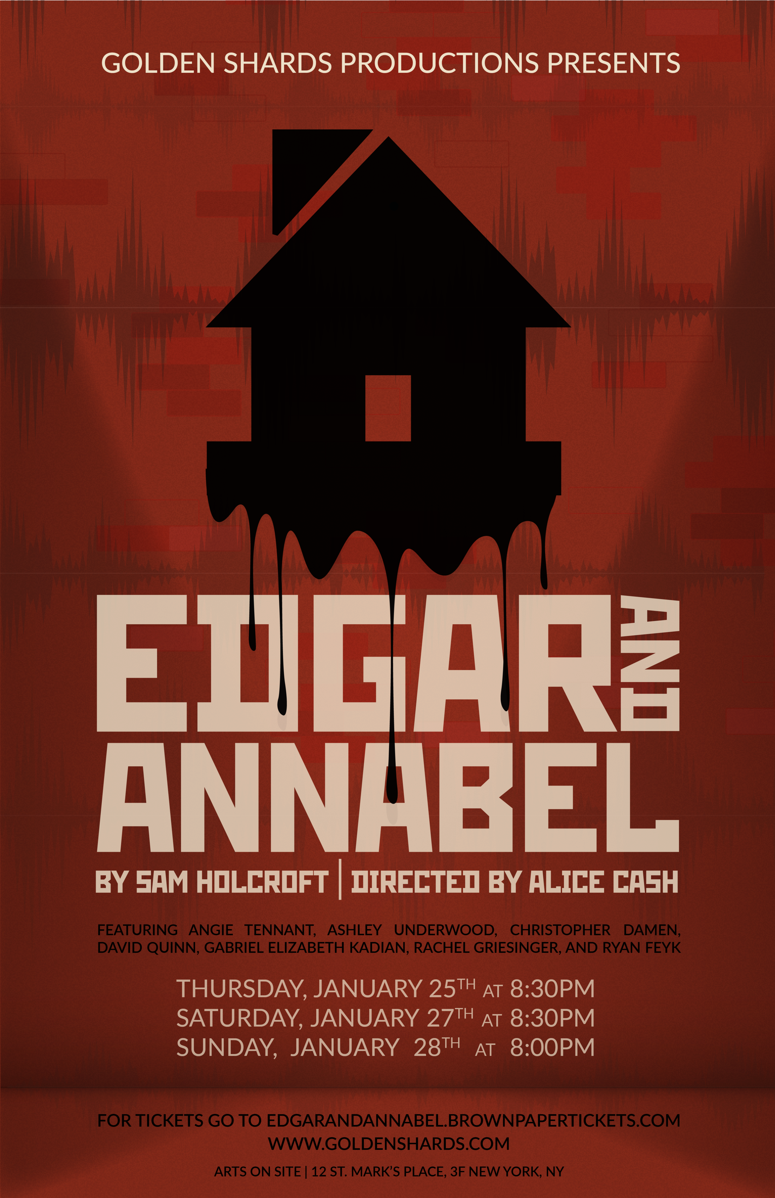 Edgar And Annabel - Theatre Poster, Golden Shards Productions