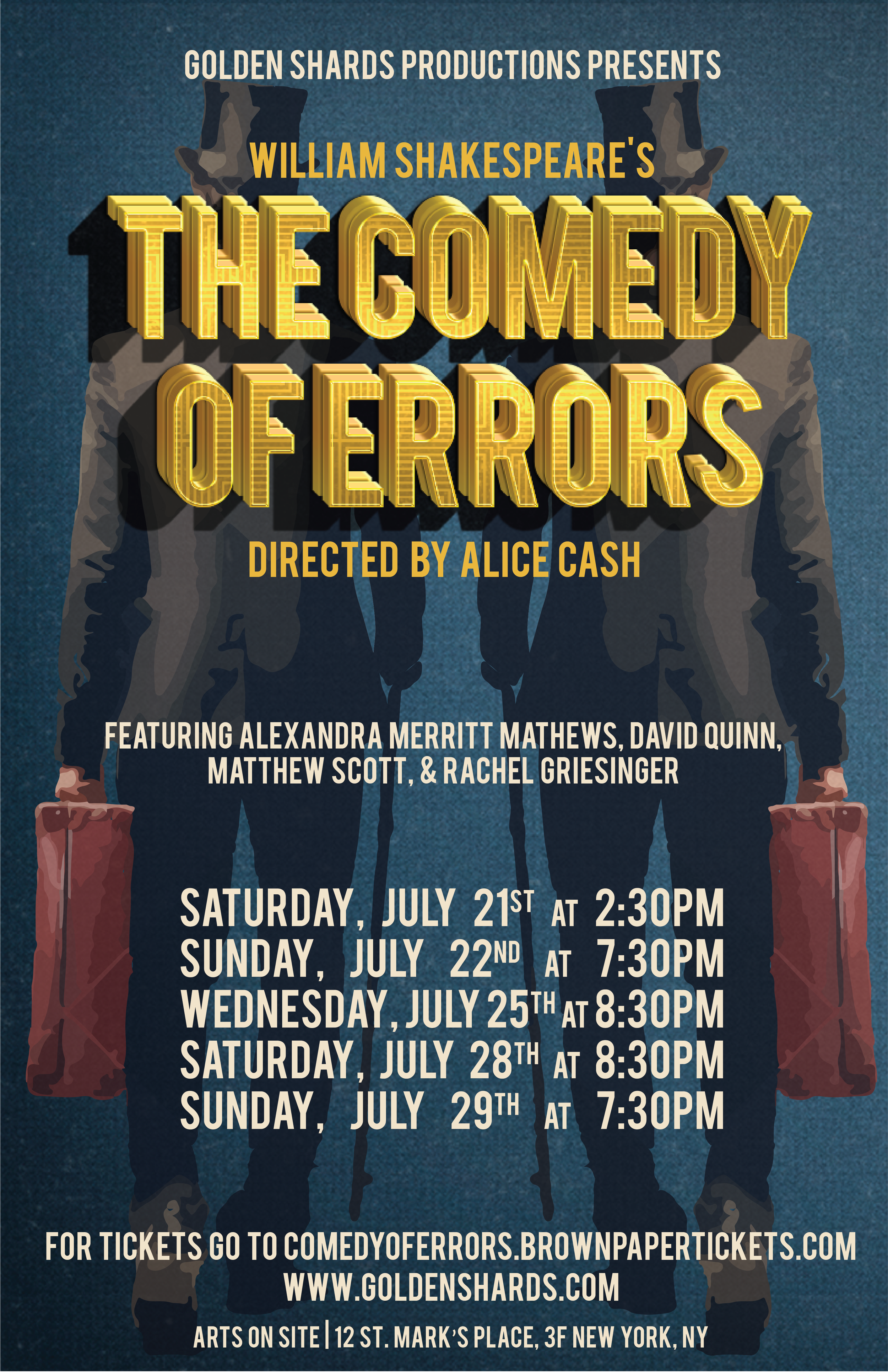 The Comedy of Errors - Theatre Poster, Golden Shards Productions