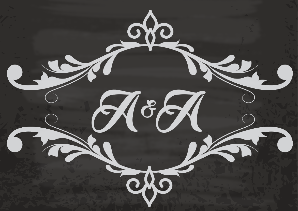 Ariel & Aliza, 2016 - Wedding Monogram