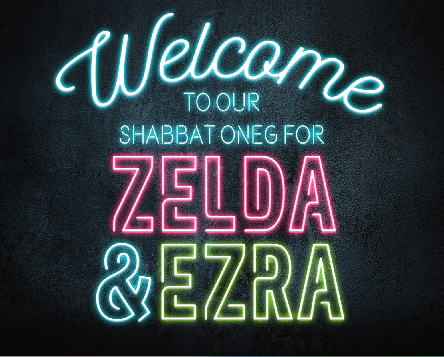 Ezra & Zelda - Welcome Poster