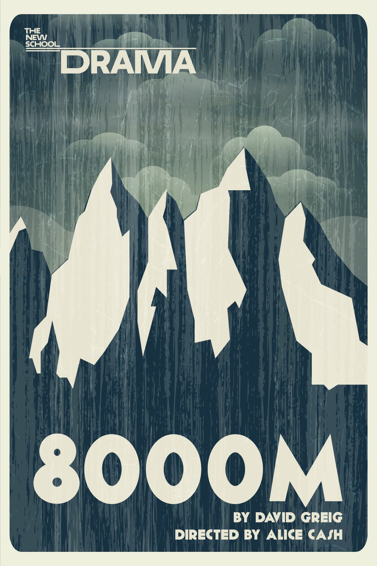 8000M - Theatre Poster, New School Drama