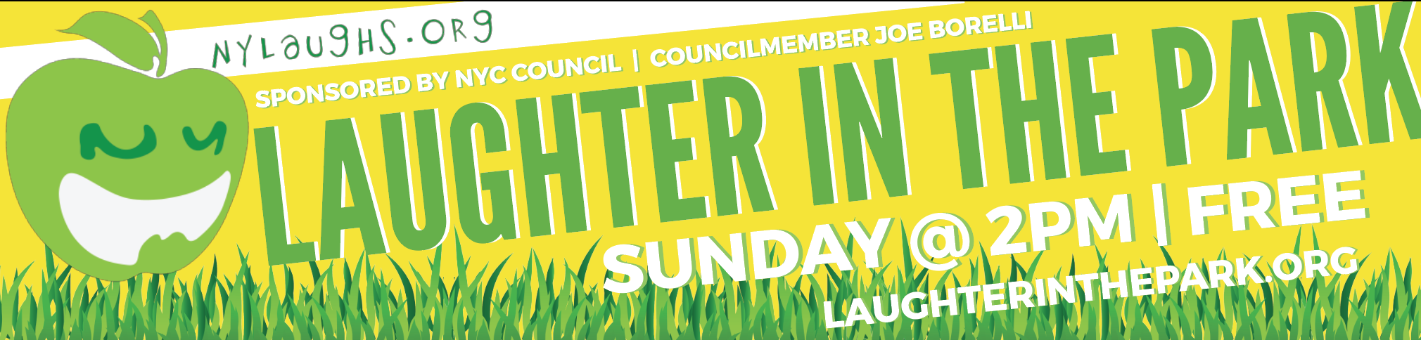 Laughter In The Park - Banner
