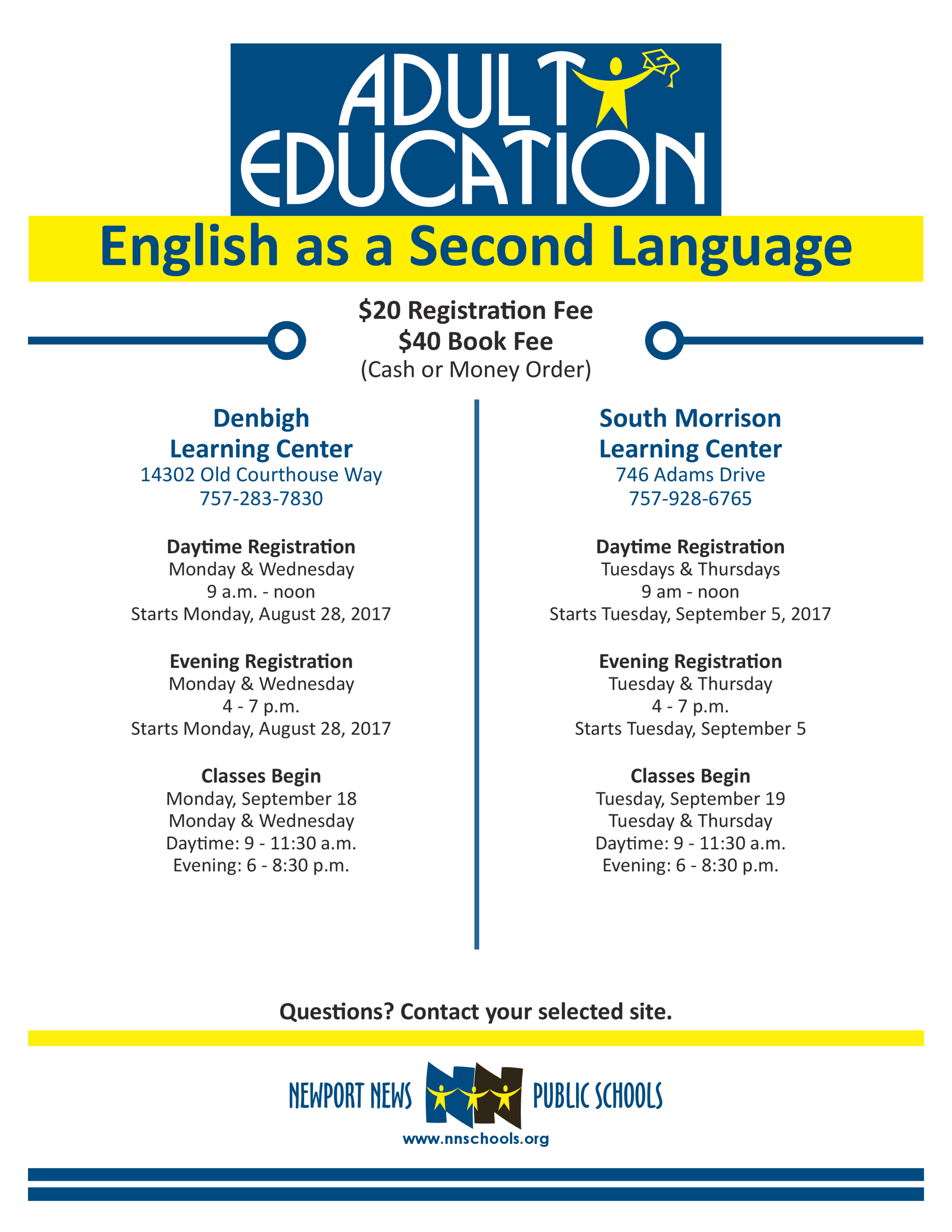 2017 - 2018 Adult Ed ESL Flyer Fall.png