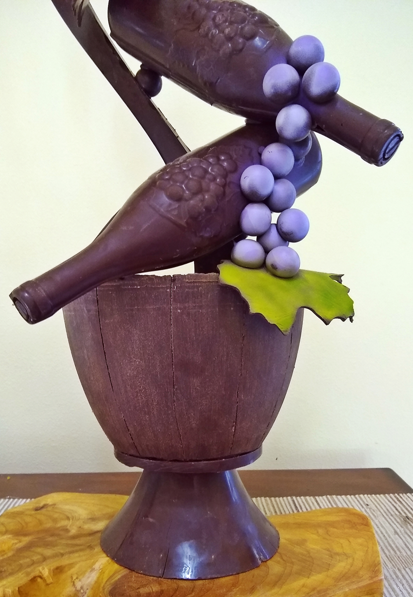 A closer view of the chocolate sculpture