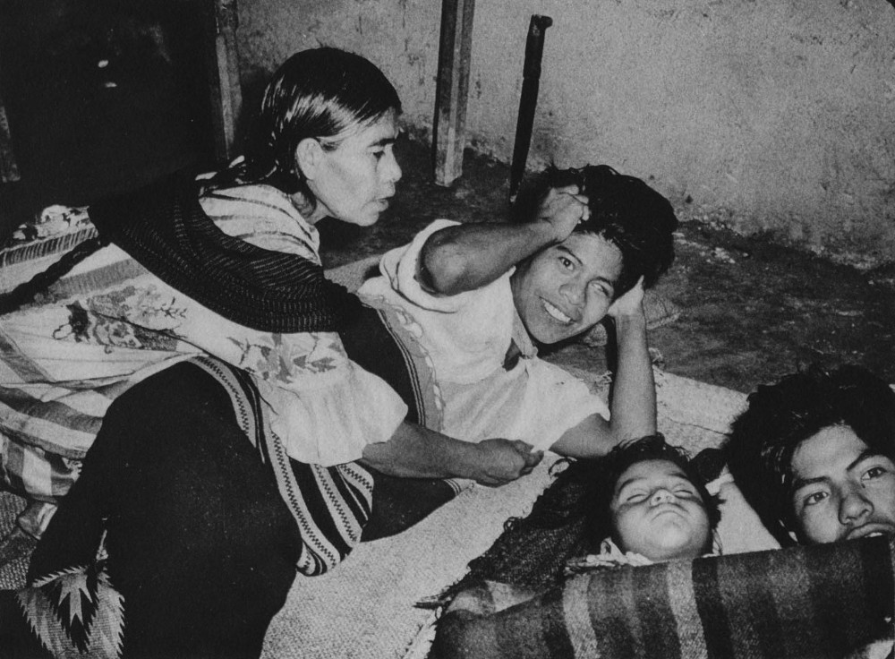 Maria Sabina and her son, Aurelio, under the influence of mushrooms. Huautla de Jimenez, 1955. (LIFE)