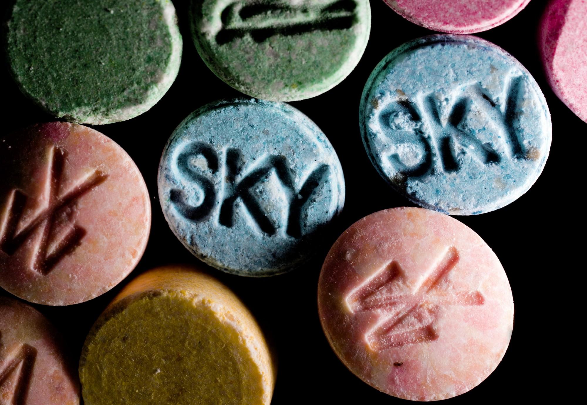 Methylenedioxymethamphetamine (MDMA) in pill form. (Getty Images)