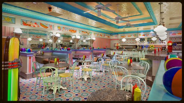 Disney's Beach Club Resort is home to the popular Beaches and Cream Soda Shop.