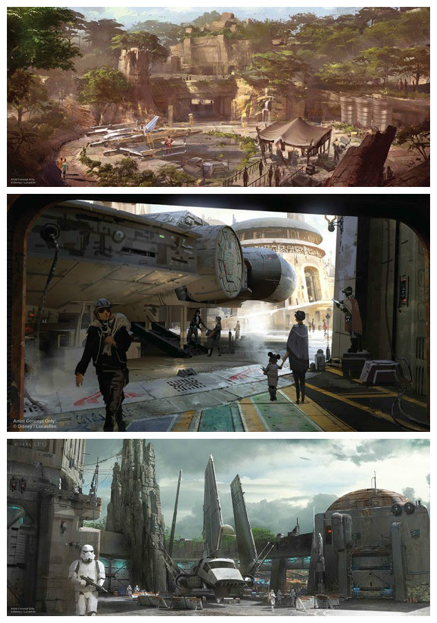 NEW DETAILS ANNOUNCED FOR  STAR WARS -THEMED LANDS FOR  DISNEY PARKS