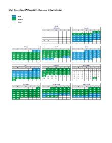 Download the Walt Disney World Ticket Calendar