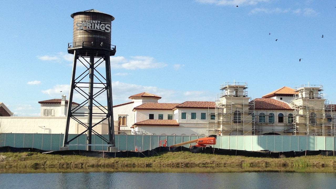 Disney Springs Water Tower Raised