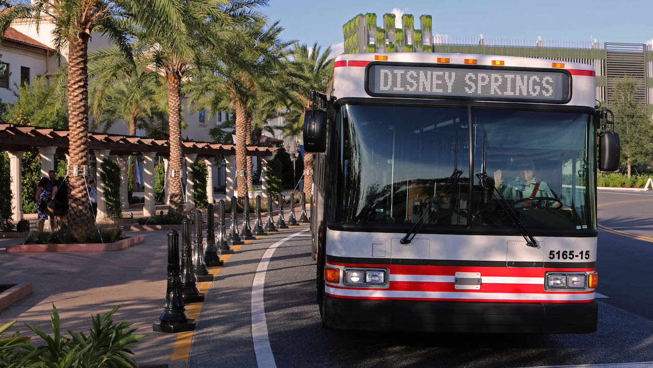 New Disney Springs bus service at Walt Disney World