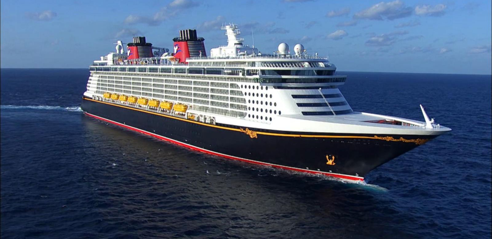 The Disney Dream is actually blue, not black.