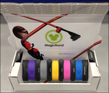 New Magic Band packaging is environmentally friendly.