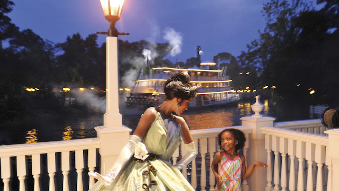 Tiana's Riverboat Party Ice Cream Social & Parade Viewing is available for $49 per adult and $29 per child age 9 and unde