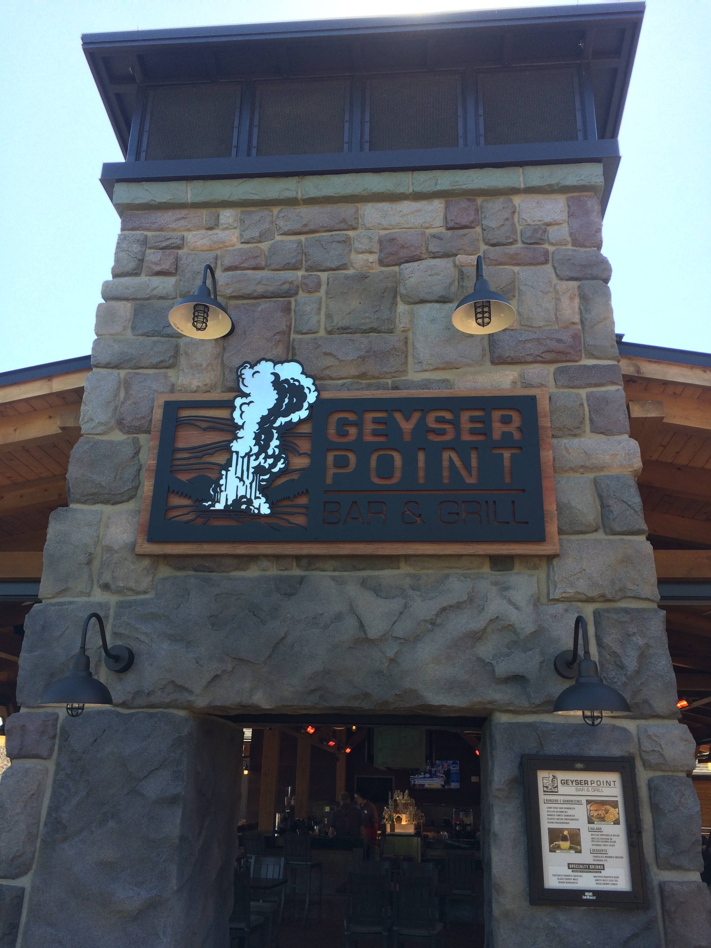 Geyser Point Bar & Grill at Disney's Wilderness Lodge Resort