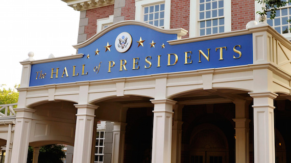 President Trump to have a speaking role in the new Hall of Presidents opening late 2017.