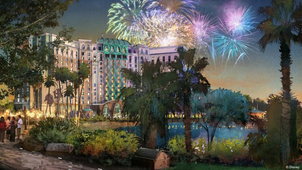 Construction of a new 15-story tower is underway at Disney's Coronado Springs Resort
