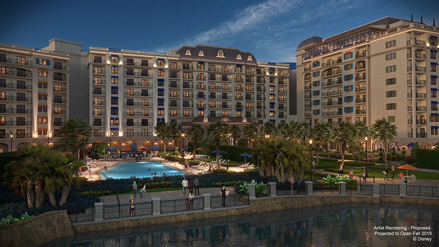 The Beau Soleil leisure pool at Disney's Riviera Resort