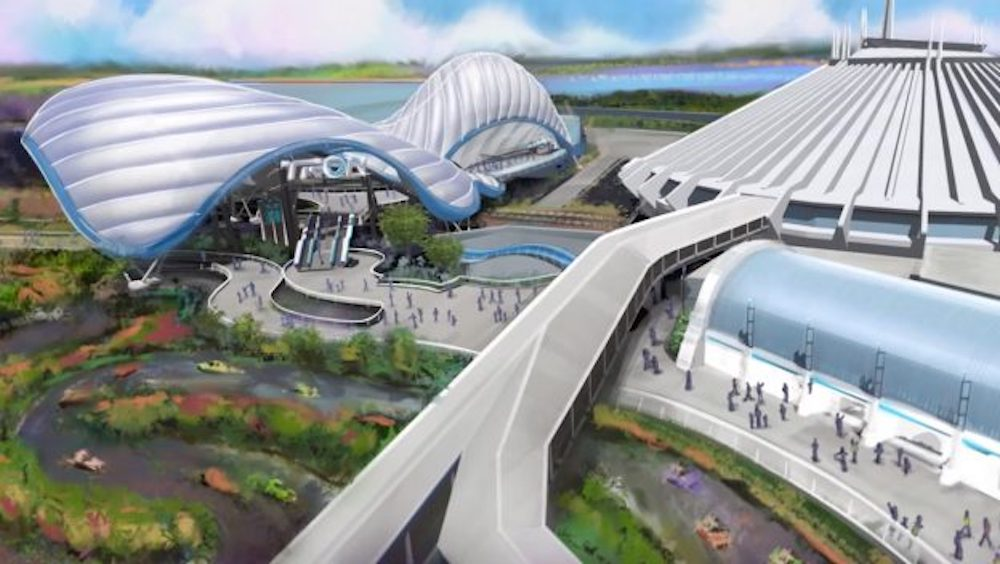 Concept art for the TRON attraction being built at Magic Kingdom Park in Walt Disney World.