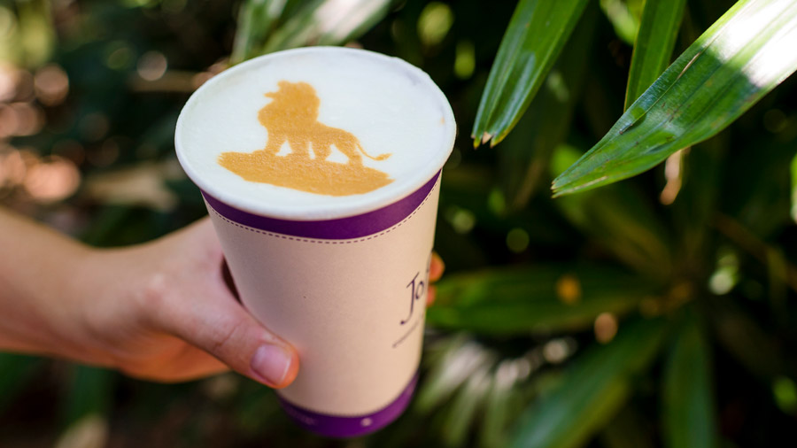 """The Lion King"" Latte Art – Available at Joffrey's Coffee & Tea Co."