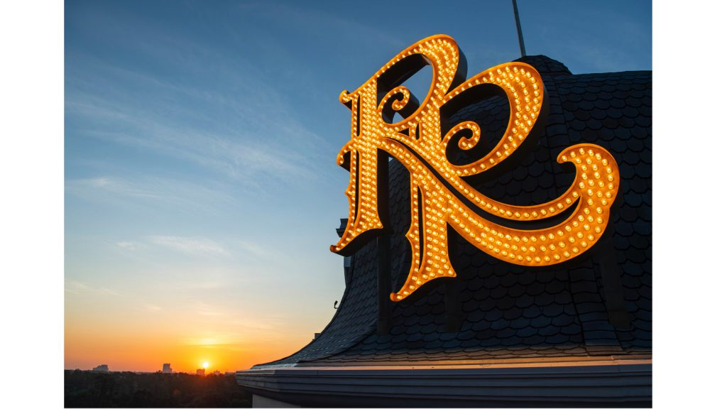 "When Guests approach the resort, the signature double ""RR"" monogram will appear to rise into view like a welcoming beacon."