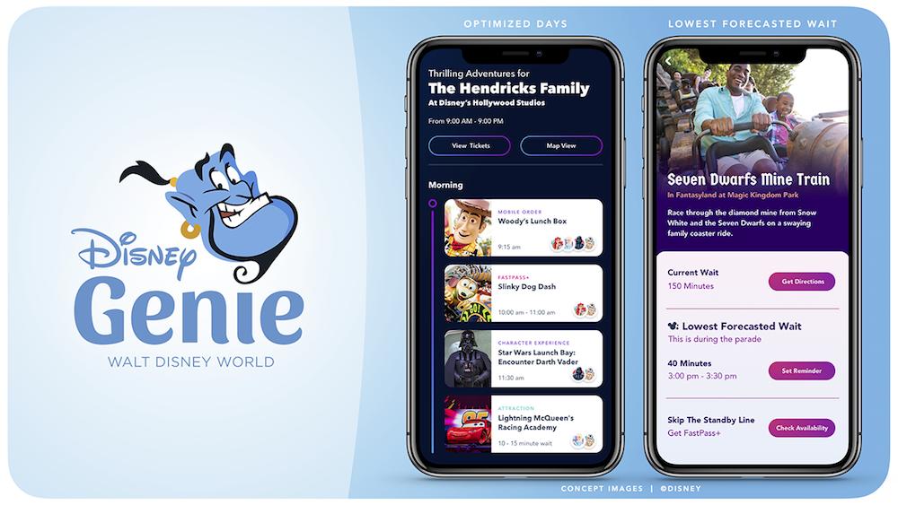 Disney Genie Walt Disney World Itinerary Planning App