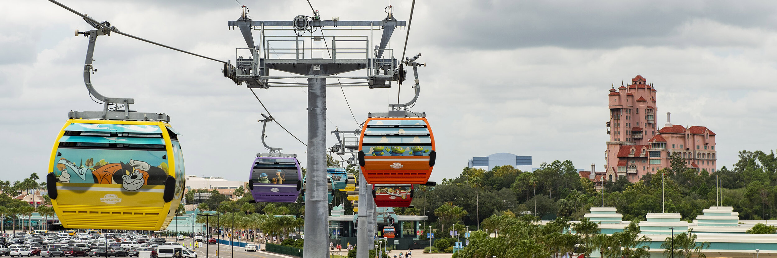 Disney Skyliner System at the Walt Disney World Resort in Florida
