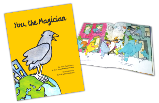 You the Magician book cover and inside