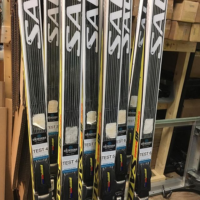 Test fleet ready for the next go round  #structuredforspeed #springskiing #crosscountry #skis #biathlon