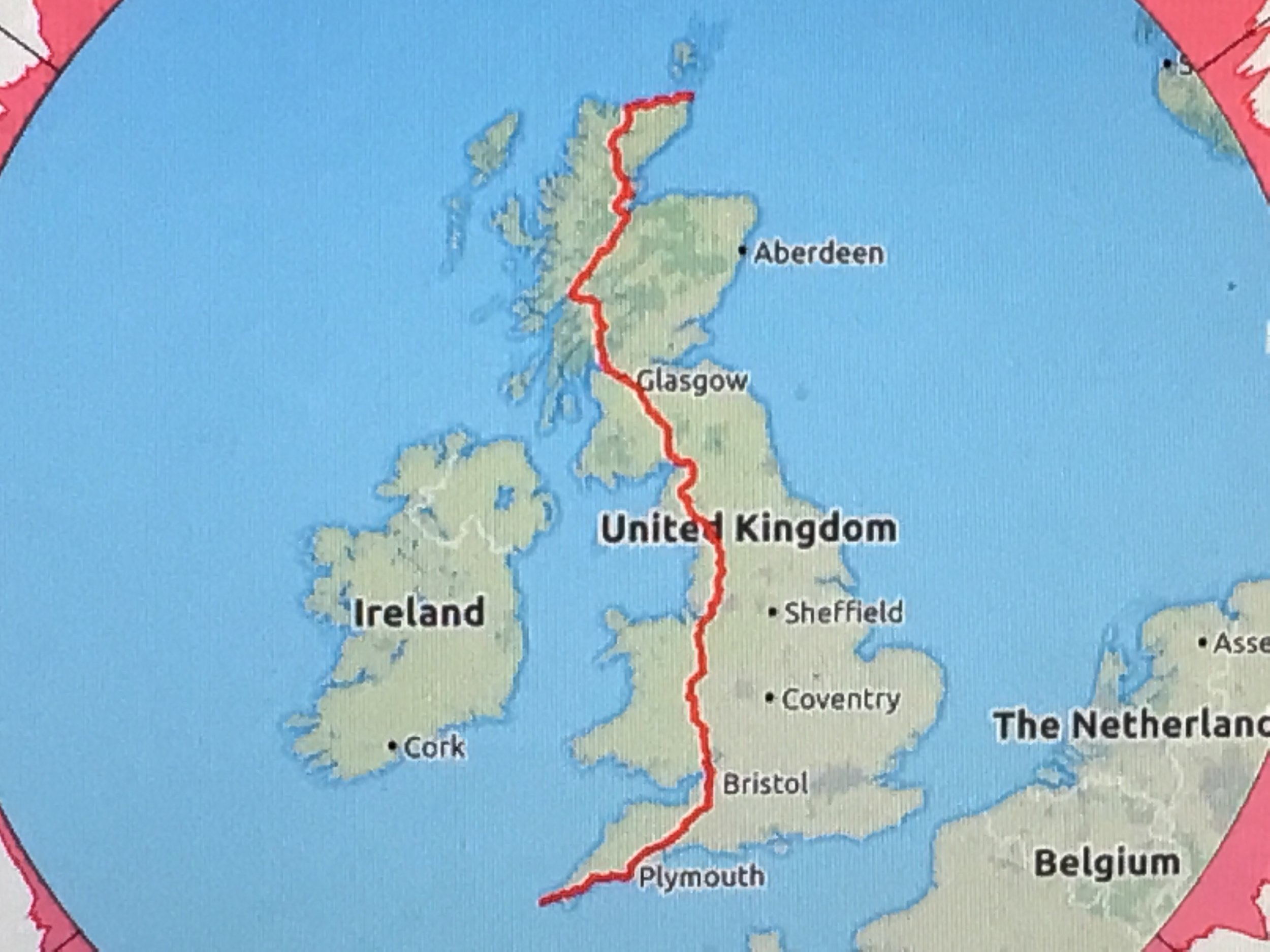 - Our Route From Lands End