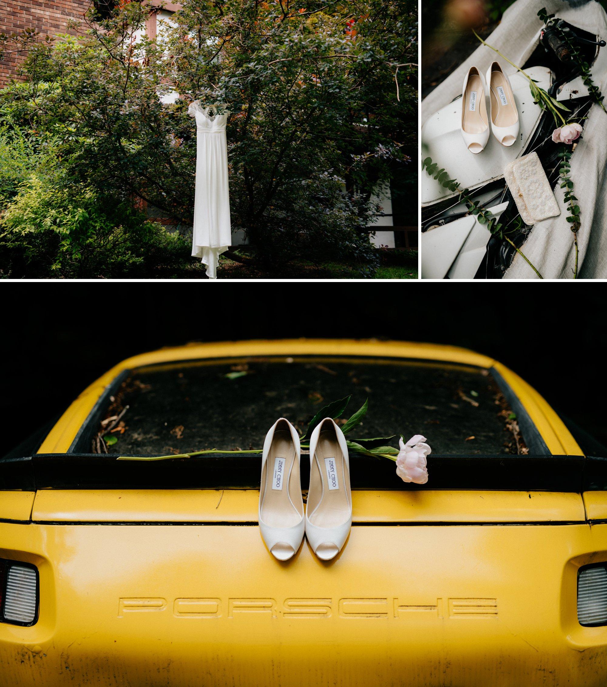 Philadelphia New Jersey Jockey Hollow Wedding Abandoned Athletic Courts Porche Jimmy Choos