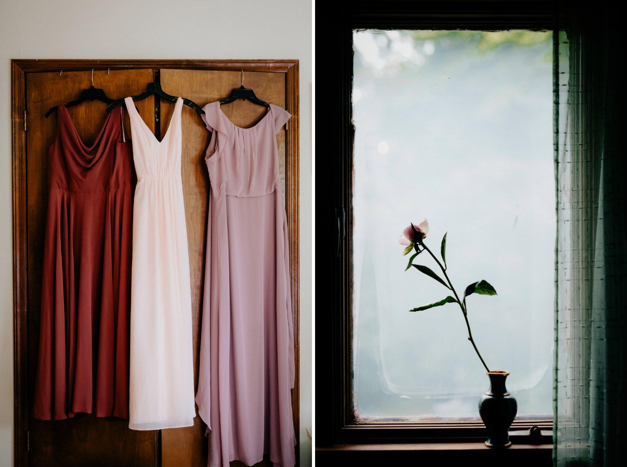 Philadelphia New Jersey Jockey Hollow Wedding Abandoned Athletic Courts Porche Jimmy Choos Bridesmaids dresses blush palette