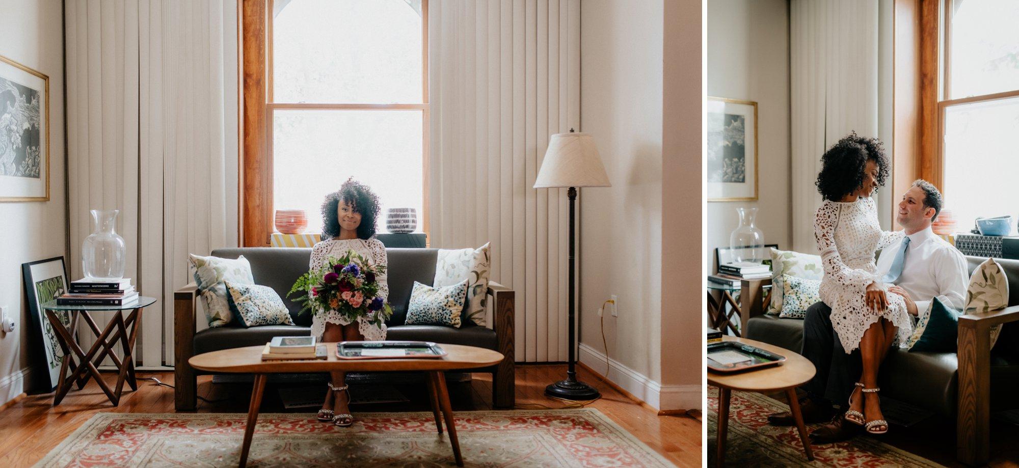 Philadelphia Wedding Elopement Colorful Portraits Zahav Reception In Home portraits