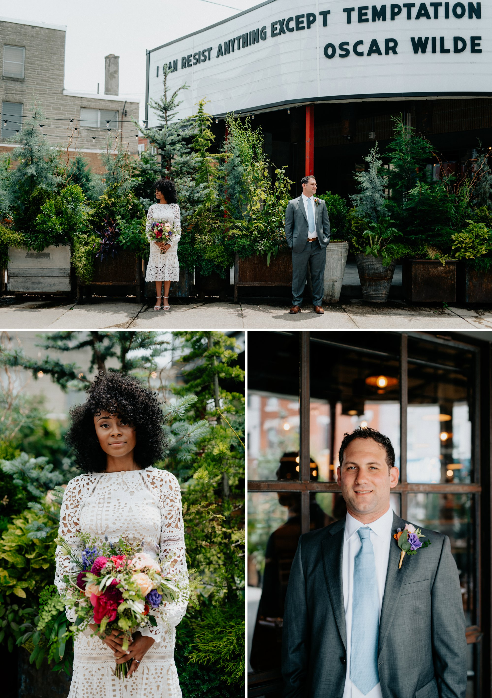 Philadelphia Wedding Elopement Colorful Portraits Zahav Reception Passyunk