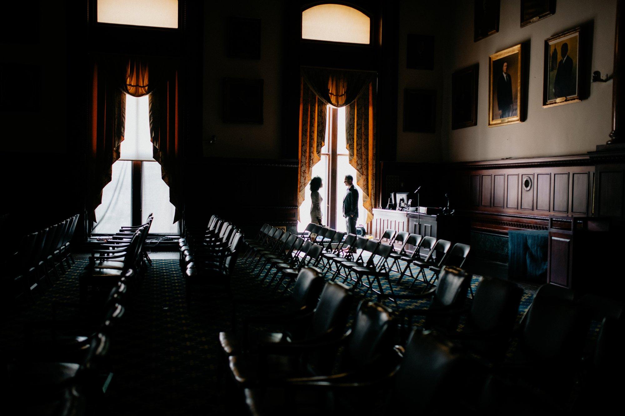 Philadelphia Wedding Elopement Colorful Portraits Zahav Reception Inside City Hall