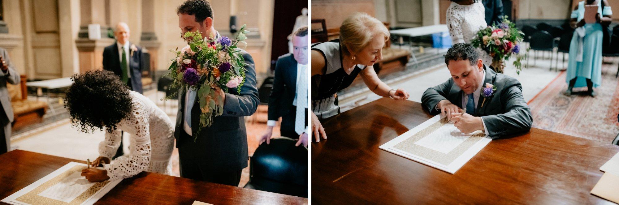 Philadelphia Wedding Elopement Colorful Portraits Zahav Reception