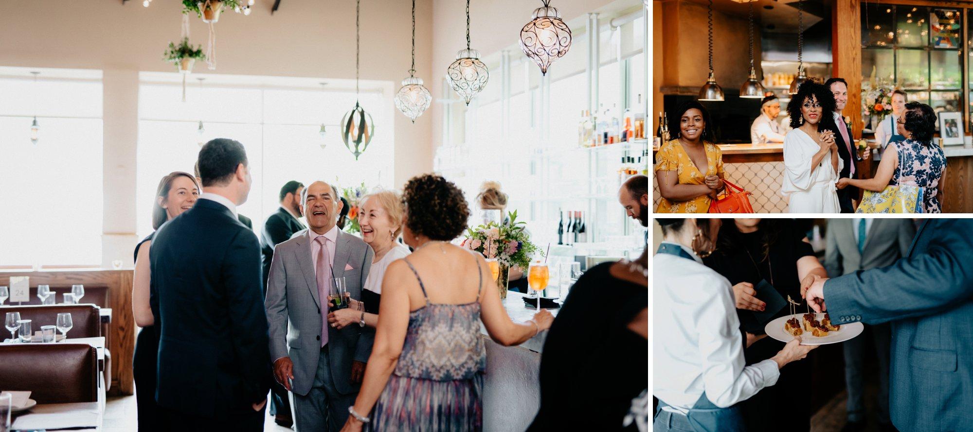 Philadelphia Wedding Elopement Colorful Portraits Zahav Reception Guests