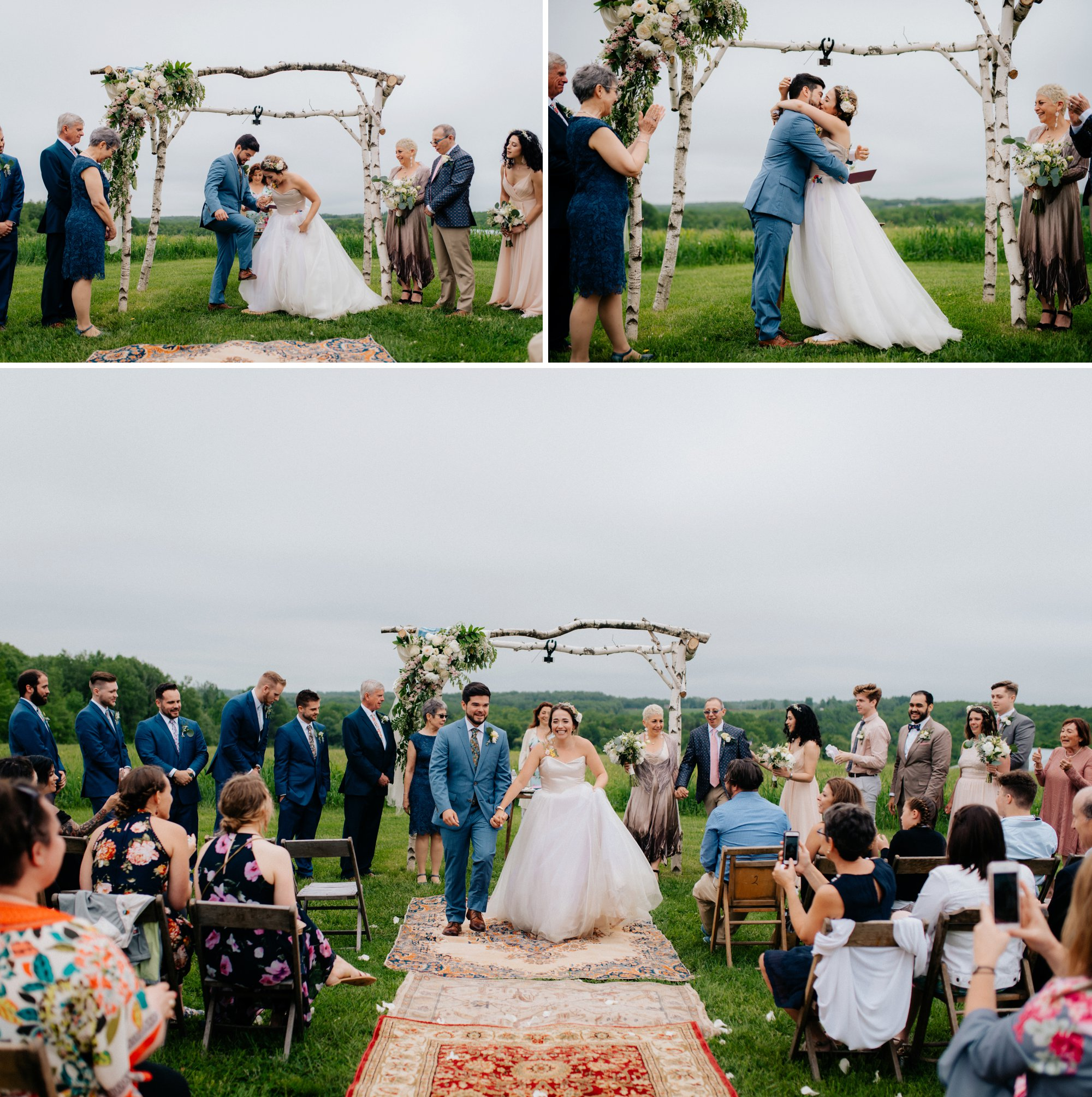 Fiddle Lake Farm Philadelphia Pennsylvania Misty Rustic Wedding with Lush Florals Recessional